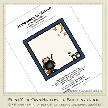 Fright Nite Printable Halloween Party Invitation 4