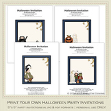 Fright Nite Printable Halloween Party Invitation Set