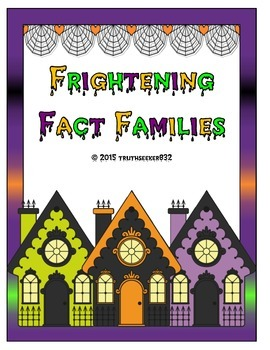 Frightening Fact Family Folder Game - Addition and Subtraction