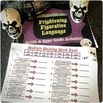 Halloween Language Activities (middle and upper grades)