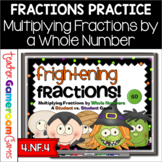 Frightening Fractions Powerpoint Game - Multiplying Fractions by a Whole Number
