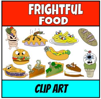 Frightful Halloween Food Clip Art