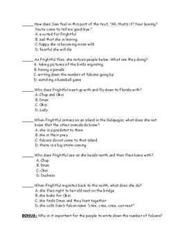 Frightful's Mountain Chapter 17 and 18 Quiz
