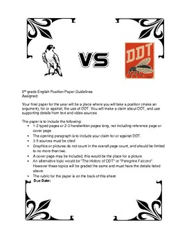 Frightful's Mountain DDT 6th Grade English NYS Module 4 Research Paper