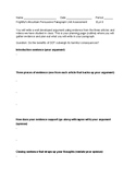 Frightful's Mountain Persuasive Paragraph Unit Assessment
