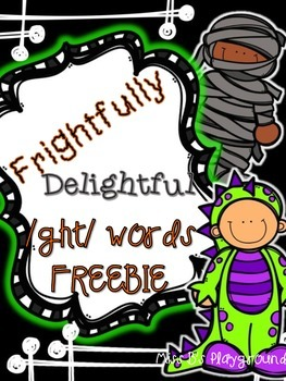 Frightfully Delightful GH Word {{FREEBIE}}