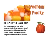 """Frightfully Fun: """"The History of Candy Corn"""" Informational Text"""