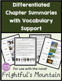 Frightful's Mountain Differentiated Chapter Summaries and Vocabulary