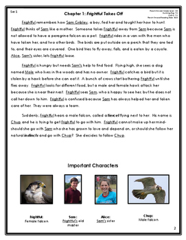 Frightful's Mountain Differentiated Chapter Summaries and Vocabulary {Ch. 1 & 2}