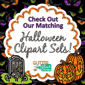 Frights and Delights Halloween Paper {Scrapbook Backgrounds for Task Cards}