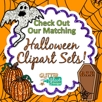 Frights and Delights Halloween Scrapbook Paper Backgrounds {Glitter Meets Glue}