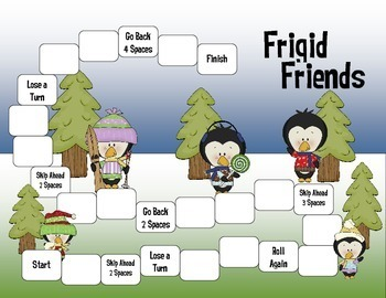 Frigid Friends:  Beginning Division Game  (1-digit divisors)