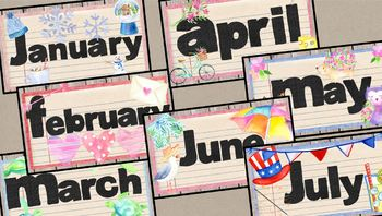 Frilly Farmhouse Calendar Set Days of the Week, Month, Dates