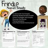 Frindle Novel Study (Short Answer, Vocabulary, Grammar Practice, Choice Board)