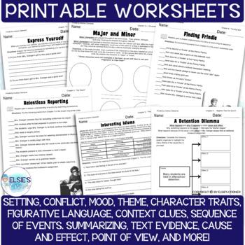 Frindle - Lessons / Comprehension Printables
