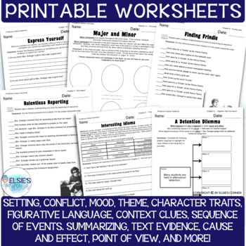 Frindle - Lessons / Comprehension Printables