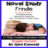 Frindle Novel Study and Project Menu