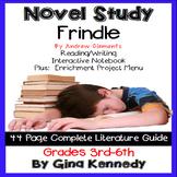 Frindle Novel Study and Project Menu; Plus Digital Option
