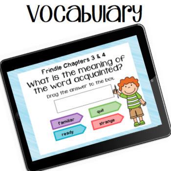 Google Classroom™ Frindle Self-Checking Digital Novel Study