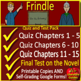 Frindle Tests, Quizzes, Assessments, Printable + GOOGLE SELF-GRADING! (Links)