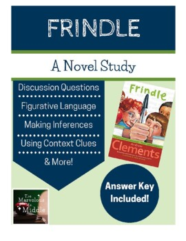 Frindle Book Study Questions - Common Core Aligned
