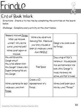 Frindle Novel Study Bundle (Chapter Work, Assessment, Games) for Fifth Grade