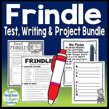 Frindle Bundle: Test, Book Report Project & Writing Activity {25% Off}