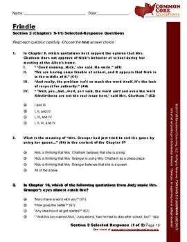 NEW!!! Frindle – CCQ Novel Study Assessment Workbook- CCSS Aligned