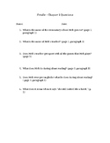 Frindle Chapter 1 Comprehension Questions