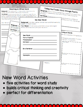 Frindle Comprehension Activities Pack