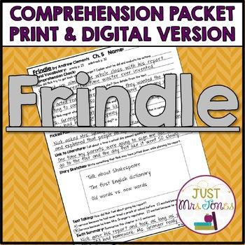 Frindle Comprehension Packet