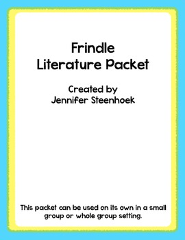 Frindle Comprehension Packet - Cause and Effect