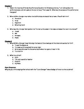 Frindle Comprehension Questions