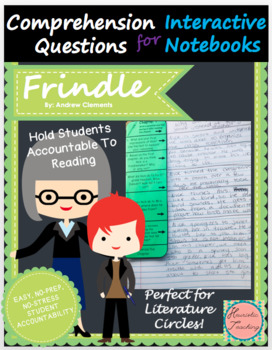 Frindle Comprehension Questions for Interactive Notebooks