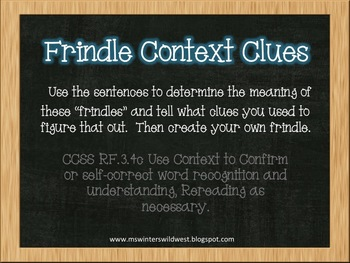 Frindle Context Clues