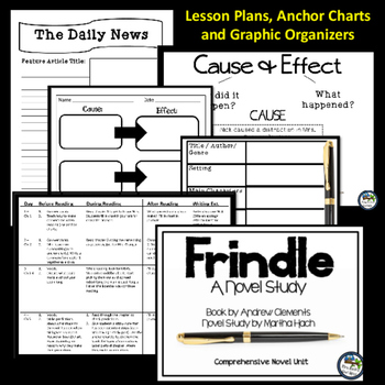 Frindle Novel Unit - Digital Interactive Notebook and Unit Plans