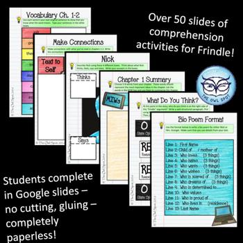Frindle Novel Unit - Digital Interactive Notebook and Unit Plans