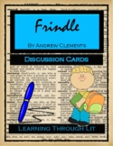 Andrew Clements FRINDLE * Discussion Cards PRINTABLE & SHAREABLE
