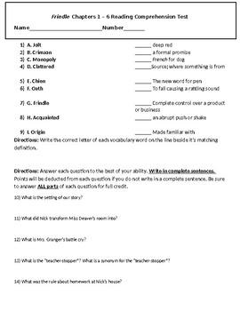 Frindle Exam