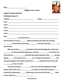 Frindle Homework Sheets