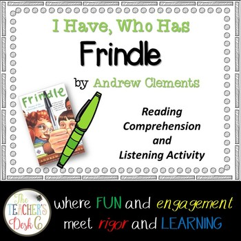 Frindle I Have Who Has Reading Comprehension