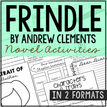 Frindle Interactive Notebook Novel Unit Study Activities, Book Report Project