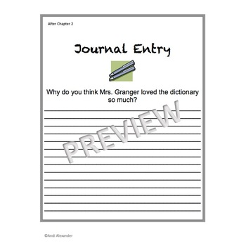 Frindle Student Journal Entries