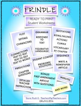 Frindle Literature Guide Novel Study