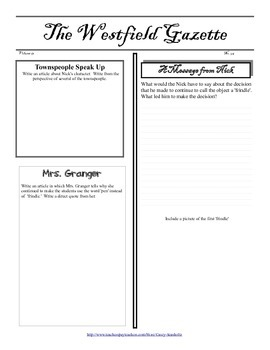 Frindle Literature Study: Tests, Vocabulary, Printables, Activities, Questions