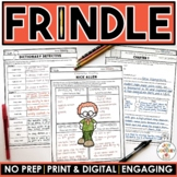 Frindle Novel Study Activities Distance Learning