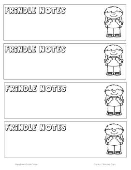 Frindle Notetaking Bookmark