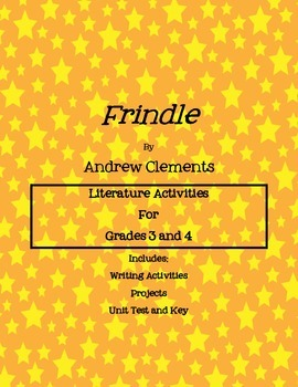 Frindle Novel Activities Packet