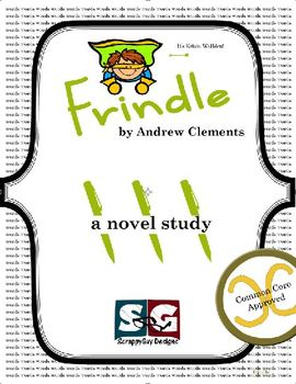 Frindle Novel Study - Vocabulary, Chapter Work, Exams, Writing Prompts