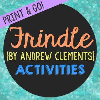 Frindle Novel Unit Study Activities, Book Companion Worksheets, Project